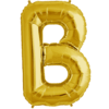 """34"""" Letter B Gold Foil Balloon overview"""