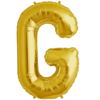 "34"" Letter G Gold Foil Balloon overview"