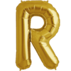"""34"""" Letter R Gold Foil Balloon overview"""