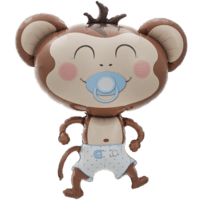 Cute Baby Boy Monkey Balloon in a Box
