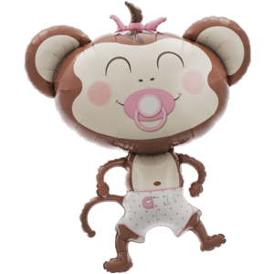 Cute Baby Girl Monkey Balloon in a Box