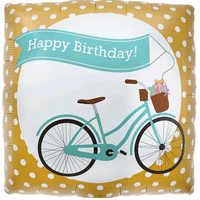 Bike Banner Happy Birthday