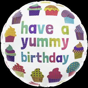Yummy Birthday Cupcakes Balloon in a Box