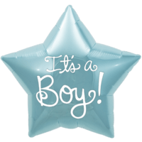 It's A Boy! Star Balloon in a Box