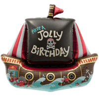 Jolly Birthday Pirate Ship Balloon in a Box
