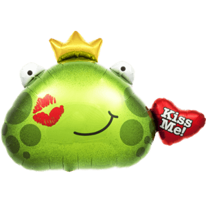 Prince Frog Kiss Me Valentine Balloon in a Box