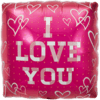 "18"" Square Pink I Love You overview"