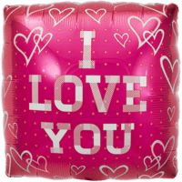 Plaid Print I Love You Balloon in a Box