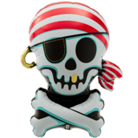 Jolly Roger Pirate Balloon in a Box