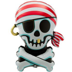 Pirate Jolly Roger Balloon in a Box