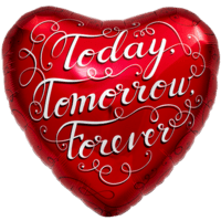 Today Tomorrow Forever Love Balloon in a Box