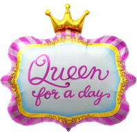 Queen For A Day Crown Balloon in a Box