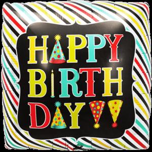 Square Happy Birthday Props Balloon in a Box