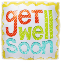 Colourful Get Well Soon Balloon in a Box