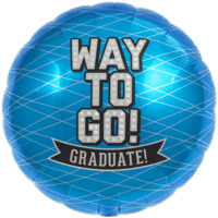 Way To Go! Grad Blue Balloon in a Box