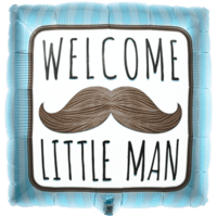 Welcome Little Man Blue Balloon in a Box