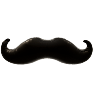 Dapper Mustache Balloon in a Box