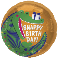 Crocodile Snappy Birthday Balloon in a Box
