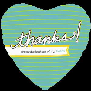 Thanks Love Heart Balloon in a Box