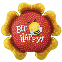Bee Happy Floral Balloon in a Box