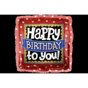 Happy Birthday Square Balloon in a Box