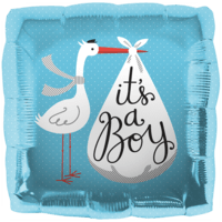 It's a Boy Stork Blue Balloon in a Box