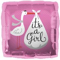 Cute It's a Girl Stork