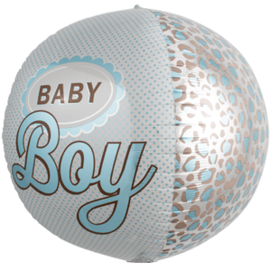 Baby Boy Polkadot Sphere Balloon in a Box