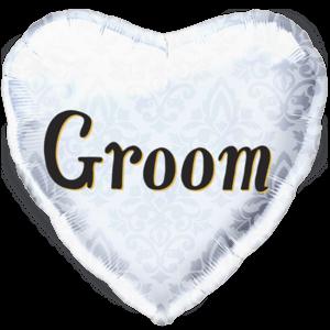 Groom Heart Balloon in a Box