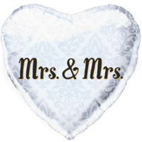 Mrs and Mrs Heart Balloon in a Box