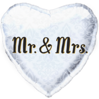 Mr & Mrs Heart Balloon in a Box