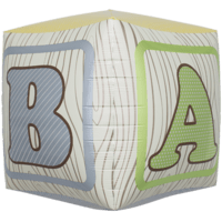 Baby Block Cube Alphabet Balloon in a Box