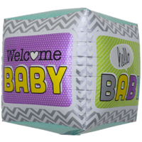 Welcome Baby Cube Pattern Balloon in a Box