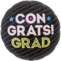Congrats Grad Stripe Balloon in a Box