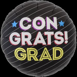 Congrats Grad Stripes Balloon in a Box