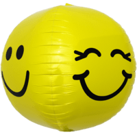 Winking & Smiley Face Sphere Balloon in a Box