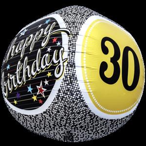 30 Birthday Milestone Sphere Balloon in a Box