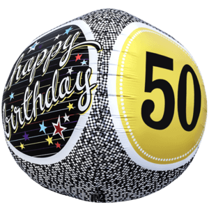 Birthday 50 Milestone Sphere Balloon in a Box