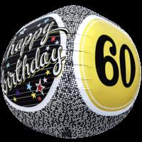 Birthday 60 Milestone Sphere Balloon in a Box