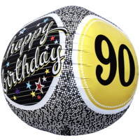 Birthday 90 Milestone Sphere Balloon in a Box