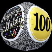 100 Birthday Milestone Sphere Balloon in a Box