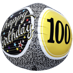 Birthday 100 Milestone Sphere Balloon in a Box