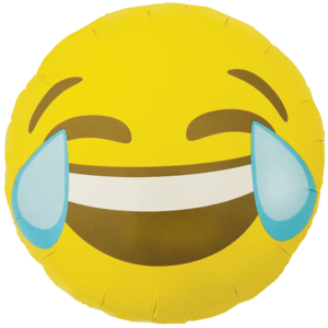 "Laughing Emoji 18"" Balloon in a Box"
