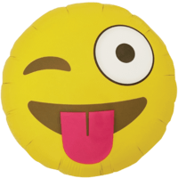 "Winking Emoji 18"" Balloon in a Box"