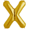 """34"""" Letter X Gold Foil Balloon overview"""
