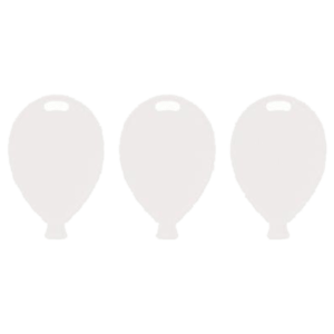 Single Balloon Shape Weights - White Product Display