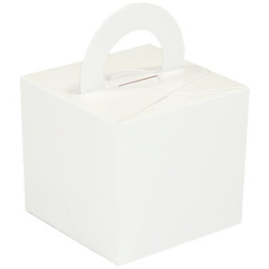 White Cardboard Box Weight Product Display