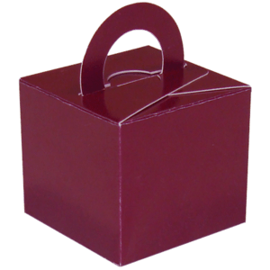 Burgundy Cardboard Box Weight Product Display