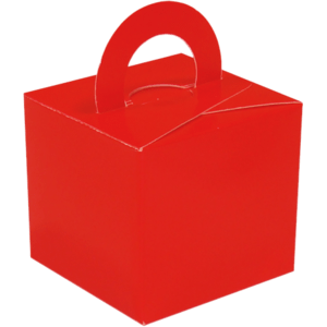 Red Cardboard Box Weight Product Display