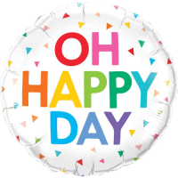 Oh Happy Day Rainbow Confetti Balloon in a Box